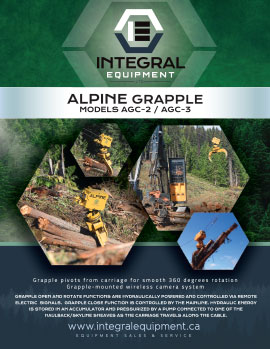 Brochure (front) for Alpine Grapple AGC-2-3